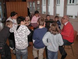 Chor unter der Leitung von Herr Hoffmann